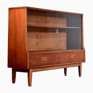 Vintage Teak Bookcase Display Cabinet from Jentique, 1960s