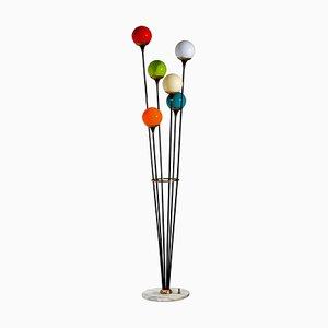 Murano Glass Balls Alberello Floor Lamp from Stilnovo, 1950s