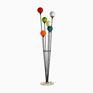 Murano Glass Balls Alberello Floor Lamp from Stilnovo, 1950s