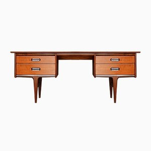 Mid-Century Afromosia Desk by John Herbert for A. Younger Ltd., 1960s