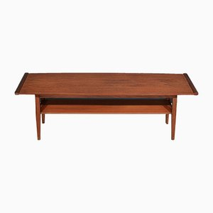 Mid-Century Teak Two-Tier Coffee Table from Myer, 1960s