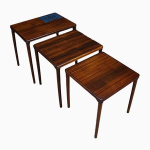 Rosewood Nesting Tables, 1970s, Set of 3