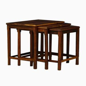 Vintage Danish Rosewood Nesting Tables, 1970s