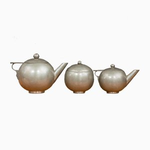 Vintage Italian Handmade Tin Kettles, Set of 3