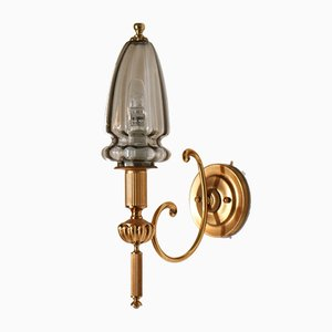 Hollywood Regency Gilt Brass Sconce by Gaetano Sciolari, 1970s