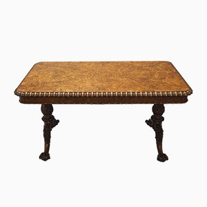 George IV Pollard Oak Pillar End Table Attributed to Gillows of Lancaster, 1825