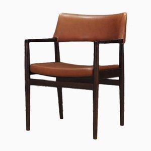 Vintage Oak and Leather Dining Chairs by Erik Wørts for Sorø Stolefabrik, 1960s, Set of 4