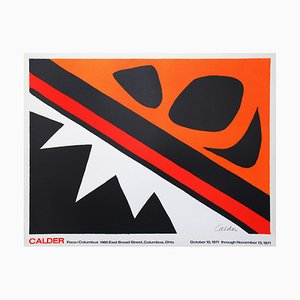 Litografía The Frog and the Saw de Alexander Calder, 1971
