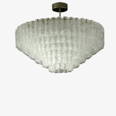 Venini Tubular Glass Chandelier, 1960s