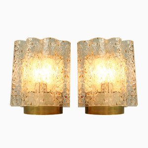 Mid-Century Glass Tube Sconces from Doria Leuchten, 1960s, Set of 2
