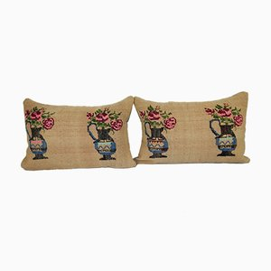 Aubusson Vase Design Lumbar Cushion Cover