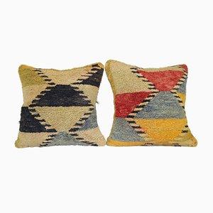Angora Wool Shaggy Cushion Covers, Set of 2