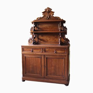 Antique Louis Philippe Walnut Credenza