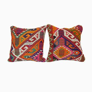Cicim Kilim Cushion Cover, Set of 2