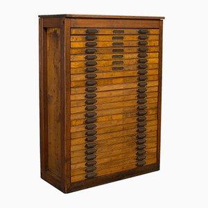 Large Antique Industrial Art Vault or Printers Cabinet