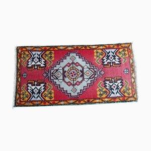 Kleine handgefertigte Türkische Vintage Fußmatte, 1970er