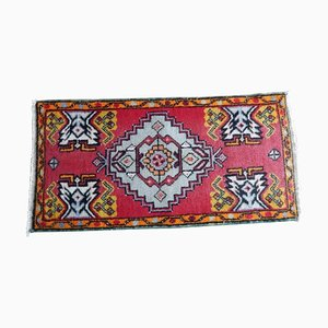 Small Vintage Turkish Handmade Door Mat or Runner Rug, 1970s