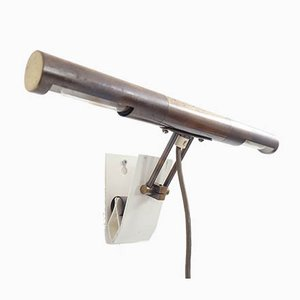 Adjustable Tubular Sconce with Clamp in the Style of Angelo Lelii for Arredoluce, 1960s