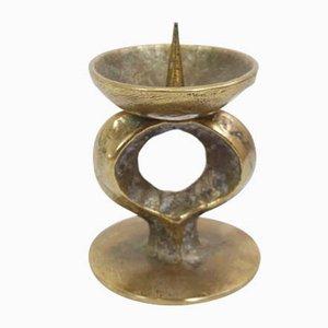 Italian Cast Brass Candleholder, 1960s