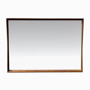 Vintage Rectangular Teak Mirror