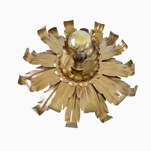 Vintage Italian Hollywood Regency Flower Ceiling Lamp by Hans Kögl