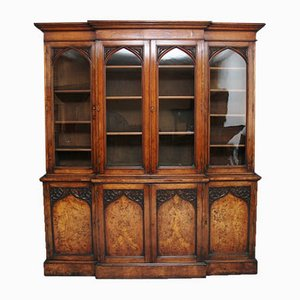 19th Century Pollard Oak Bookcase
