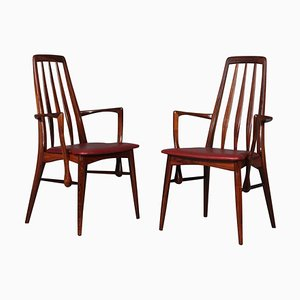 Rosewood Eva Armchairs by Niels Koefoed, 1960s, Set of 2