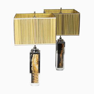 Tischlampen aus Bakelit und Chrom, 1970er, 2er Set