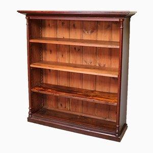 Rustic Mahogany & Pine Open Bookcase, 1870s