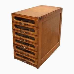 Oak Haberdashers Drawer Cabinets, 1920s, Set of 2