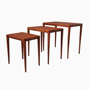 Mid-Century Danish Nesting Tables by Severin Hansen for Haslev Møbelsnedkeri