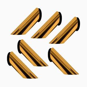 Geometrical Rotating Brass Sconce in the Style of Nanda Vigo, 1970s