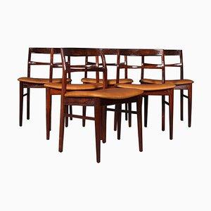 Palisander Esszimmerstühle von Henning Kjærnulf, 1970er, 6er Set