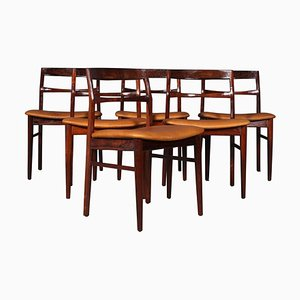 Rosewood Dining Chairs by Henning Kjærnulf, 1970s, Set of 6