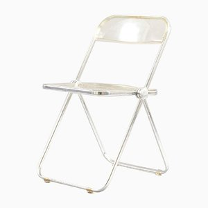 Vintage Model Plia Folding Chair by Giancarlo Piretti for Castelli / Anonima Castelli, 1970s
