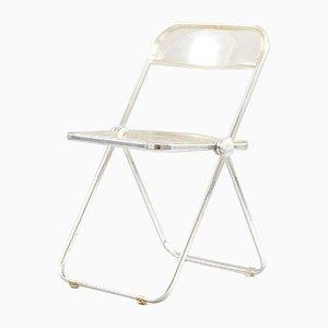 Vintage Model Plia Folding Chair by Giancarlo Piretti for Castelli / Anonima Castelli, 1970s
