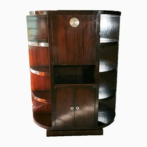 Large Art Deco French Solid Wood Bar