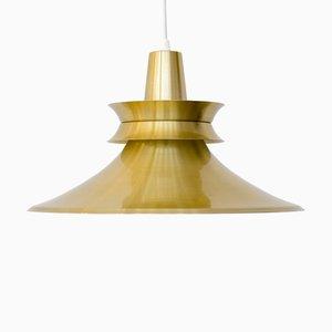 Aluminum Gold Pendant Lamp by R. van Ingen, 1970s