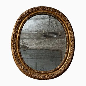 19th Century French Oval Gilt Mirror