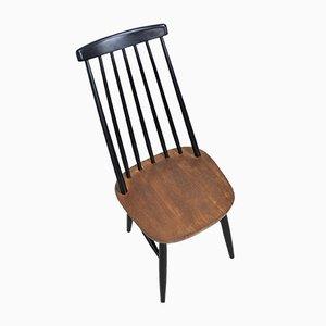 Mid-Century Swedish Slat Back Side Chair, 1960s