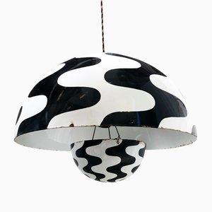 Lampada da soffitto Mid-Century in ferro smaltato di Verner Panton per Louis Poulsen, anni '60
