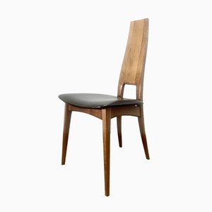 Mid-Century Cherrywood Dining Chairs by Ernst Martin Dettinger, Set of 5
