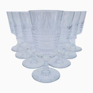Vintage Crystal Wine Glass from Saint louis, 1930s, Set of 10