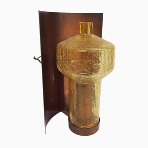 Copper and Glass Craquelel Sconce, 1960s