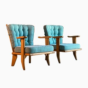 French Armchairs by Guillerme et Chambron for Votre Maison, 1959, Set of 2