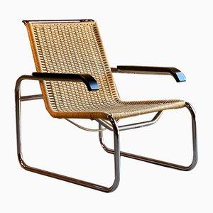 Poltrona Bauhaus B35 di Marcel Breuer per Thonet, anni '80