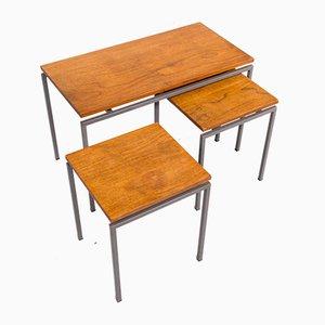 Tavolini ad incastro di Cees Braakman per Pastoe, anni '70