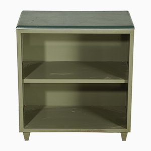Italian Metal Office Furniture with Green Leatherette Top, 1960s