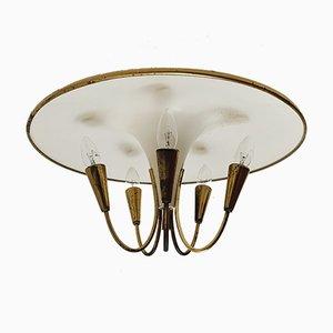 Italienische Sputnik Deckenlampe, 1950er
