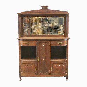 Antique Art Nouveau Belgian Cabinet